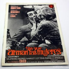 Cine: LA QUE ARMAN LAS MUJERES - DOBLE GUIA - MANOLO GOMEZ BUR, ANA Mª VIDAL. Lote 116229847