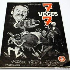 Cine: 7 VECES 7 - DOBLE GUIA - LIONEL STANDER, TERRY THOMAS, GASTONE MOSCHIN. Lote 116229879