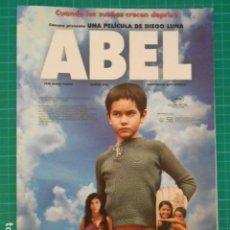 Cine: GUIA PUBLICITARIA PELICULA - ABEL. Lote 116290791