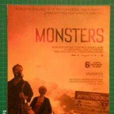 Cine: GUIA PUBLICITARIA PELICULA - MONSTERS. Lote 116348403