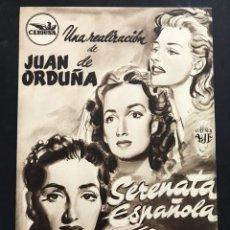 Cine: SERENATA ESPAÑOLA - JUANITA REINA Y JULIO PEÑA - CEPICSA. Lote 116585967