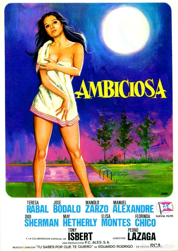 AMBICIOSA (GUÍA ORIGINAL SIMPLE DE SU ESTRENO EN ESPAÑA) TERESA RABAL JOSÉ BODALO ELISA MONTES (Cine - Guías Publicitarias de Películas )