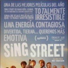 Cine: GUÍA ORIGINAL DE CINE: SING STREET - GUÍA SIMPLE IMPRESA A DOS CARAS.. Lote 116933207