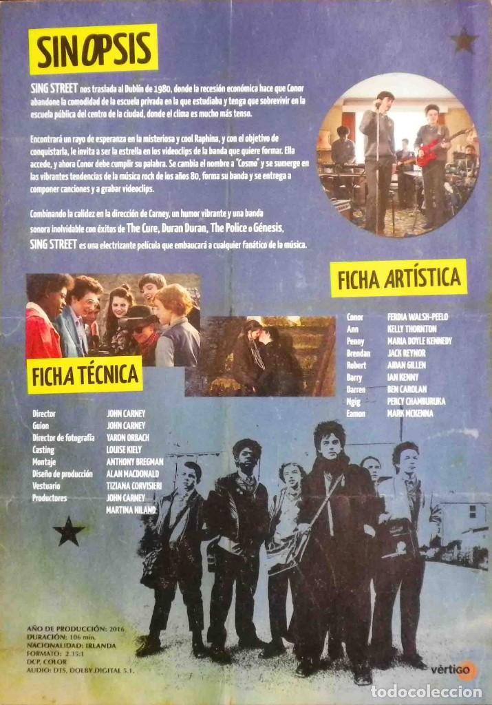 Cine: GUÍA ORIGINAL DE CINE: Sing Street - Guía simple impresa a dos caras. - Foto 2 - 116933207
