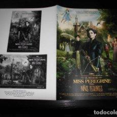 Cinema: EL HOGAR DE MISS PEREGRINE PARA NIÑOS PECULIARE. GUIA PUBLICITARIA DOBLE. ORIGINAL.MAGNIFICO ESTADO.. Lote 118828375