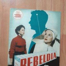 Cinema: B1B-GUIA DE 8 HOJAS DE LA PELICULA-REBELDIA. Lote 118913455