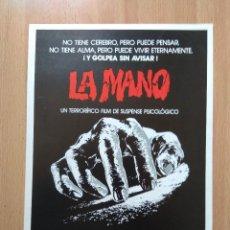 Cine: B1B-GUIA SIMPLE DE LA PELICULA-LA MANO. Lote 118918803