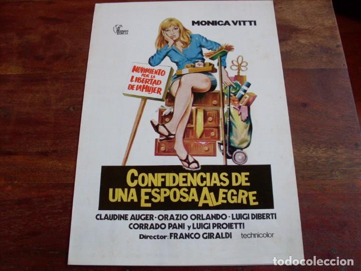 CONFIDENCIAS DE UNA ESPOSA ALEGRE - MONICA VITTI, CLAUDINE AUGER - GUIA HISPAMEX AÑO 1976 (Cine - Guías Publicitarias de Películas )