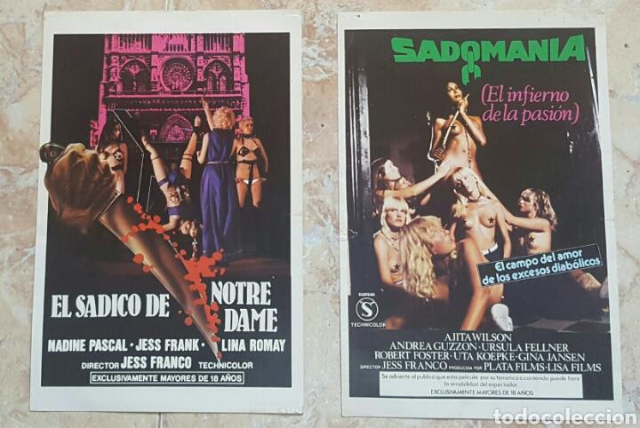 Cine: LOTE DE 5 GUÍAS PUBLICITARIAS DE PELICULAS DE JESS FRANCO (Sadomania, Orloff, Sádico Notre Dame...) - Foto 2 - 120754120