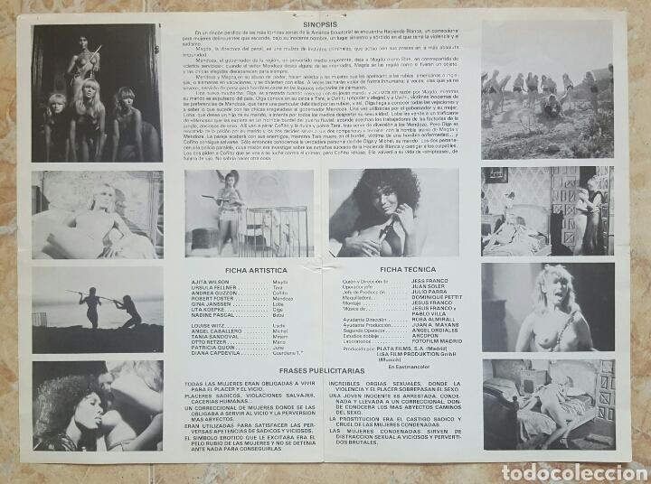 Cine: LOTE DE 5 GUÍAS PUBLICITARIAS DE PELICULAS DE JESS FRANCO (Sadomania, Orloff, Sádico Notre Dame...) - Foto 6 - 120754120