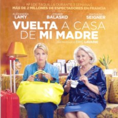 Cine: VUELTA A CASA DE MI MADRE. GUIA ORIGINAL ESTRENO.. Lote 121235431