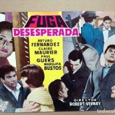 Cine: FUGA DESESPERADA - GUIA PUBLICITARIA ORIGINAL ESTRENO CIRE FILMS. Lote 121362255