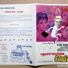 Cine: OPERACION CAVIAR. 1961-O.W FISCHER - EVA BARTOK -GUIA PUBLICITARIA BENGALA FILMS. Lote 121368839