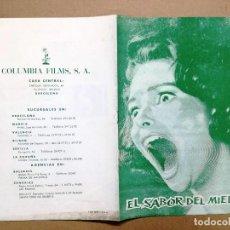 Cinéma: EL SABOR DEL MIEDO - CHRISTOPHER LEE - ANN TODD / SETH HOLT - HAMMER FILMS . Lote 121369023