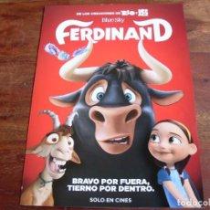 Cine: FERDINAND - ANIMACION - GUIA ORIGINAL FOX. Lote 194730795