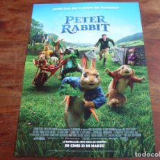 Cine: PETER RABBIT - ROSE BYRNE, DOMHNALL GLEESON - DIR. WILL GLUCK - GUIA ORIGINAL SONY AÑO 2018. Lote 194730813