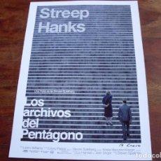 Cine: LOS ARCHIVOS DEL PENTAGONO - MERYL STREEP, TOM HANKS - DIR. STEVEN SPIELBERG - GUIA ORIGINAL. Lote 148227814