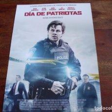 Cine: DIA DE PATRIOTAS - MARK WAHLBERG, KEVIN BACON, JOHN GOODMAN - GUIA ORIGINAL. Lote 148227790
