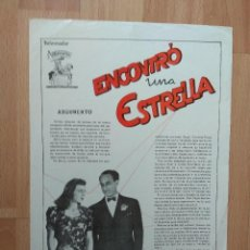 Cinéma: B1B-GUIA SIMPLE DE LA PELICULA.--ENCONTRO UNA ESTRELLA. Lote 122575115
