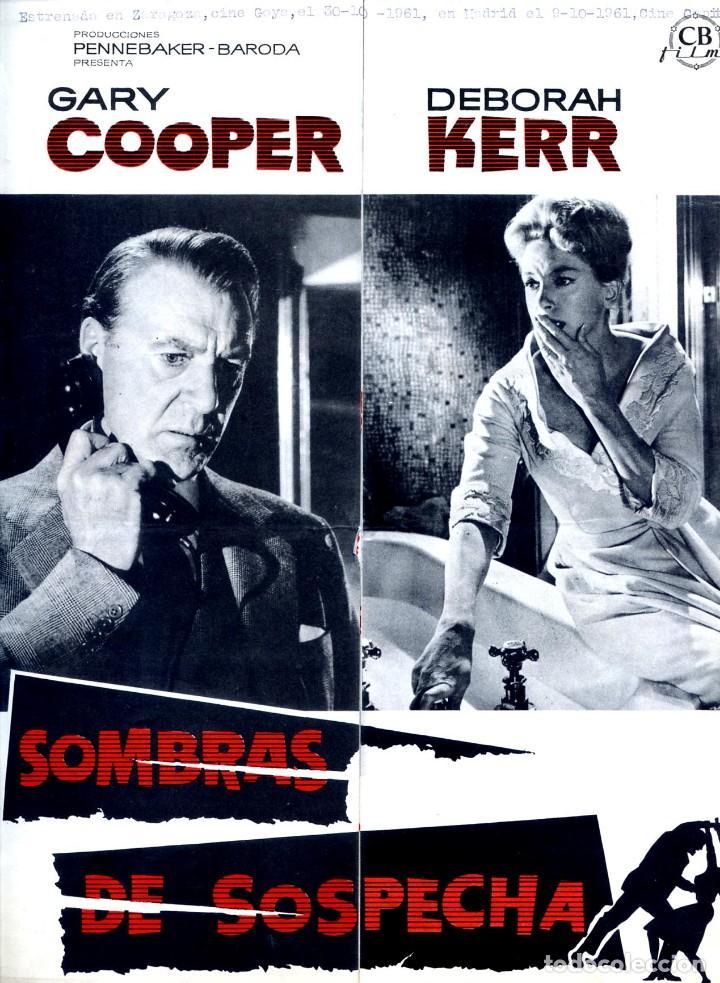 SOMBRAS DE SOSPECHA 1961(GUÍA ORIGINAL CON MUCHAS FOTOS ESTRENO EN ESPAÑA) GARY COOPER PETER CUSHING (Cine - Guías Publicitarias de Películas )