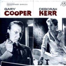 Cine: SOMBRAS DE SOSPECHA 1961(GUÍA ORIGINAL CON MUCHAS FOTOS ESTRENO EN ESPAÑA) GARY COOPER PETER CUSHING. Lote 123160235