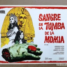 Cinéma: SANGRE EN LA TUMBA DE LA MOMIA-HAMMER. GUIA ORIGINAL ESTRENO 1974.. Lote 124505895