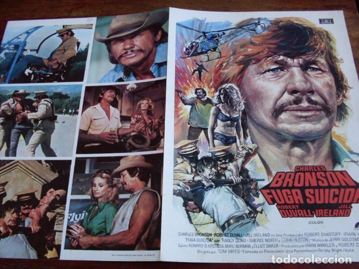 FUGA SUICIDA - CHARLES BRONSON, ROBERT DUVALL, JILL IRELAND - GUIA ORIGINAL MUNDIAL 1975 - MAC (Cine - Guías Publicitarias de Películas )