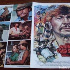 Cine: FUGA SUICIDA - CHARLES BRONSON, ROBERT DUVALL, JILL IRELAND - GUIA ORIGINAL MUNDIAL 1975 - MAC. Lote 124668675