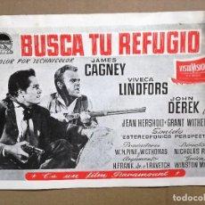 Cine: BUSCA TU REFUGIO JAMES CAGNEY VIVECA LINDFORDS GUIA ORIGINAL PARAMOUNT ESTRENO. Lote 126054835