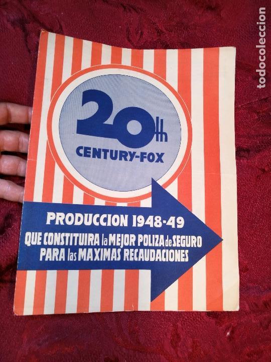 PROGRAMA PELICULAS - 20 TH CENTURY FOX - AÑOS 1948- 49 - VER FOTOS (Cine - Guías Publicitarias de Películas )