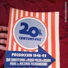 Cine: PROGRAMA PELICULAS - 20 TH CENTURY FOX - AÑOS 1948- 49 - VER FOTOS . Lote 126187107