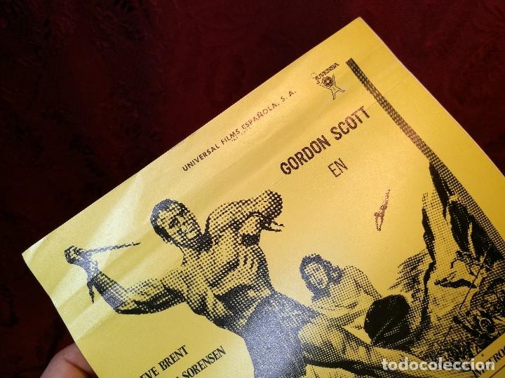 Cine: TARZAN LUCHA POR SU VIDA. GORDON SCOTT. AÑO 1977.GACETILLA UNIVERSAL FILMS ESPAÑOLA - Foto 3 - 126188167