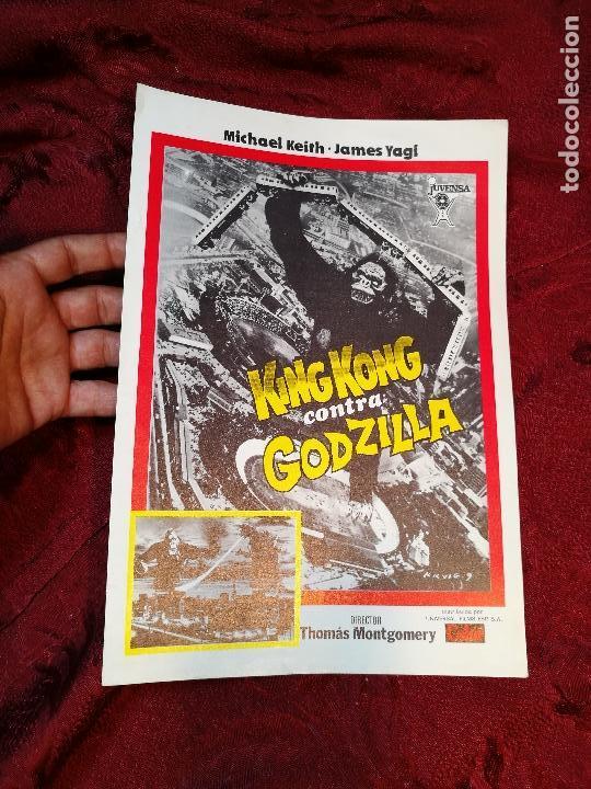 KING KONG CONTRA GODZILLA (GUIA ORIGINALSIMPLE) MICHAEL KEIT 1978.GACETILLA UNIVERSAL FILMS ESPAÑOLA (Cine - Guías Publicitarias de Películas )