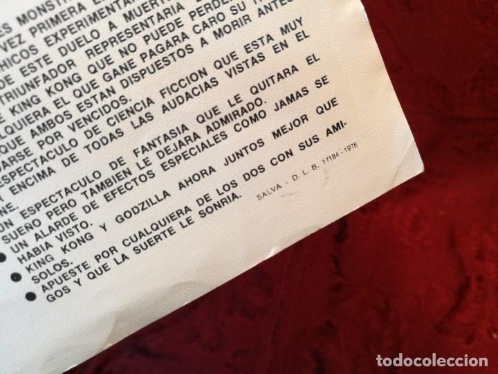 Cine: KING KONG CONTRA GODZILLA (GUIA ORIGINALSIMPLE) MICHAEL KEIT 1978.GACETILLA UNIVERSAL FILMS ESPAÑOLA - Foto 4 - 126188335