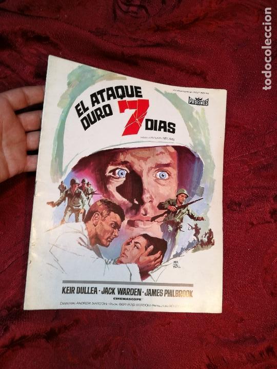 GUÍA PUBLICITARIA DE LA PELÍCULA EL ATAQUE DURÓ 7 DIAS, 6 PAGINAS FOLLETO LIBRETO (Cine - Guías Publicitarias de Películas )