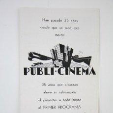 Cine: GUÍA PUBLICITARIA PUBLI-CINEMA - REPULSIÓN - ROMAN POLANSKI - PUBLICIDAD DANONE - AÑO 1967. Lote 126360243