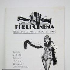 Cine: GUÍA PUBLICITARIA PUBLI-CINEMA - LOLA - ANOUK AIMÉE - ARTE Y ENSAYO / DANONE - AÑO 1968. Lote 126361227