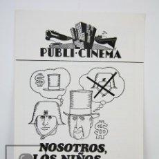 Cine: GUÍA PUBLICITARIA PUBLI-CINEMA - NOSOTROS, LOS NIÑOS PRODIGIO - PUBLICIDAD DANONE - AÑO 1972. Lote 126361535