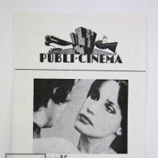 Cine: GUÍA PUBLICITARIA PUBLI-CINEMA - L'AMOUR L'APRÈS LE MIDI - ERICH ROHMER - DANONE - AÑO 1972. Lote 126361659