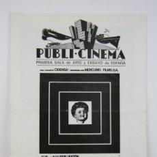 Cine: GUÍA PUBLICITARIA PUBLI-CINEMA - FREUD - JOHN HUSTON / MONTGOMERY CLIFT - DANONE - AÑO 1969. Lote 126362195