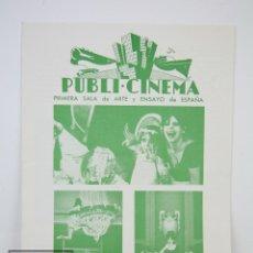 Cine: GUÍA PUBLICITARIA PUBLI-CINEMA - LAS MARGARITAS (SEDMYKRASKY) - PUBLICIDAD DANONE - AÑO 1968. Lote 126362659