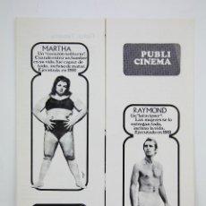 Cine: GUÍA PUBLICITARIA PUBLI-CINEMA - LOS ASESINOS DE LA LUNA DE MIEL - PUBLICIDAD DANONE - AÑO 1970. Lote 126362755
