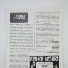 Cine: GUÍA PUBLICITARIA PUBLI-CINEMA - RISAS Y SENSACIONES DE ANTAÑO - PUBLICIDAD DANONE - AÑO 1971. Lote 126363075