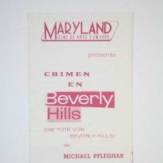 Cine: GUÍA PUBLICITARIA MARYLAND - CRIMEN EN BEVERLY HILLS - BARCINO FILMS SA - AÑO 1969. Lote 126452003