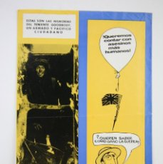 Cine: GUÍA PUBLICITARIA DE PELÍCULA- CÓMO GANÉ LA GUERRA - JOHN LENNON / RICHARD LESTER- BEATLES- AÑO 1969. Lote 126452475