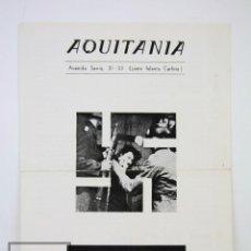 Cine: GUÍA PUBLICITARIA AQUITANIA - ROMA CITTA APERTA / CIUDAD ABIERTA - FEDERICO FELLINI - AÑO 1969. Lote 126452651