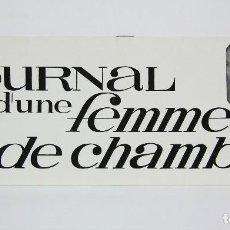 Cine: GUÍA PUBLICITARIA DE PELÍCULA - DIARIO DE UNA CAMARERA - LUIS BUÑUEL - AÑO 1969. Lote 126454175