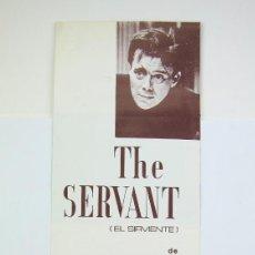 Cine: GUÍA PUBLICITARIA SAVOY - THE SERVANT / EL SIRVIENTE - JOSEPH LOSEY - BARCINO FILMS, 1967. Lote 126454347