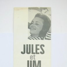 Cine: GUÍA PUBLICITARIA RIALTO - JULES ET JIM - FRANÇOIS TRUFFAUT - JEAN MOREAU - BARCINO FILMS, 1968. Lote 126454883
