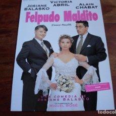 Cinéma: FELPUDO MALDITO - VICTORIA ABRIL, ALAIN CHABAT, MIGUEL BOSE - GUIA ORIGINAL CINE COMPANY. Lote 127251839